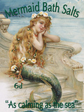 Mermaid Bath Salts Tin Sign