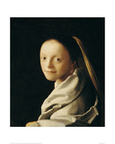 Portrait of a Young Woman Giclee Print by Jan Vermeer