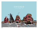 Chicago S&#233;rigraphie par  Hero Design