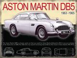 Aston Martin DB5 Plechová cedule