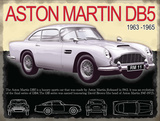Aston Martin DB5 Plakietka emaliowana