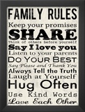 Family Rules Print by Louise Carey