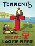 Tennents T Tin Sign