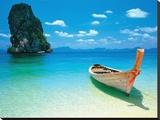 Bestemming, plankier in zee met tekst: Destiny Kunst op gespannen canvas