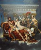 Mars Désarmé par Vénus Premium Giclee Print by Jacques-Louis David