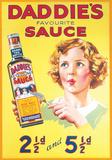 Daddie's Sauce Tin Sign