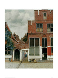 Street in Delft Giclee Print by Johannes Vermeer