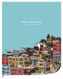 San Francisco Sérigraphie par  Hero Design