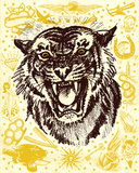 Easy Tiger Serigrafa por Hero Design