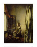 Woman Reading a Letter at an Open Window Giclee Print by Jan Vermeer