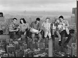 """Stjernerne fra """"Venner"""" spiser frokost på en skyskraber Opspændt lærredstryk"""