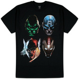 The Avengers - 4 Square T-Shirt