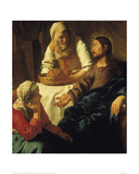 Christ in the House of Mary & Martha Giclee Print by Jan Vermeer