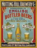 Notting Hill Brewery Plaque en métal
