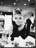 Audrey Hepburn -Breakfast at Tiffanys B&W Leinwand