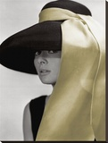 Audrey Hepburn-Hat Stretched Canvas Print