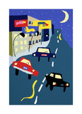 Nite Cars Collectable Print by Valerie Johnson