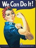 We Can Do It Leinwand von J. Howard Miller