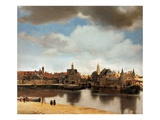 View of Delft Lámina giclée por Jan Vermeer