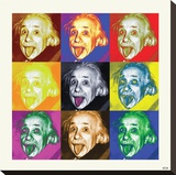 Albert Einstein-Pop Art Stretched Canvas Print
