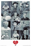 I Love Lucy Faces Posters