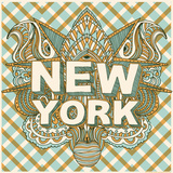 New York Silketrykk av  Hero Design