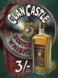 Clan Castle Scotch Whisky Cartel de chapa