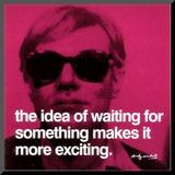 Andy Warhol - Čekání (Waiting) Reprodukce aplikovaná na dřevěnou desku