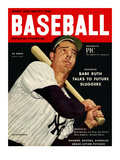 Sporting News Magazine, 1948 - Joe DiMaggio - Babe Ruth Talks To Future Sluggers Prints