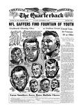 NFL Greats Low Groza, Art Donovan, Chuck Bednarik and More - September 27, 1961 Print