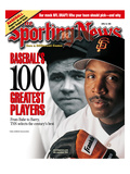 San Francisco Giants OF Barry Bonds and New York Yankees OF Babe Ruth - April 19, 1999 Affiches