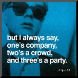 Three's a Party Mounted Print by Andy Warhol