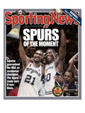 San Antonio Spurs Tim Duncan and David Robinson - 2003 NBA Champs - June 23, 2005 Premium Photographic Print