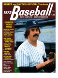 New York Yankees P Catfish Hunter - 1975 Street and Smith's Photo