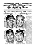 Willie Mays, Mickey Mantle, Tommy Davis and Leon Wagner - July 21, 1962 Prints