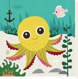 Ocean Friends, Olga Reproduction sur toile tendue par Jenn Ski