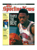 Detroit Pistons' Dennis Rodman - March 16, 1992 Print