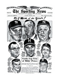 Men of the Year Roger Maris, Warren Spahn, Ralph Houk and more - January 3, 1962 Posters