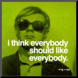 Everybody Affiche mont&#233;e par Andy Warhol