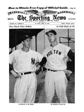 New York Yankees CF Joe DiMaggio & Boston Red Sox LF Ted Williams - Apr 13, 1949 Kunstdruck
