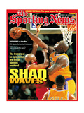 Los Angeles Lakers' Shaquille O'Neal - November 11, 1996 Premium Photographic Print