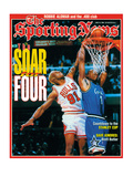 Chicago Bulls' Dennis Rodman and Orlando Magic' Penny Hardaway - June 10, 1996 Posters