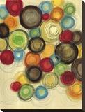 Colorful Whimsy I Reproduction transférée sur toile par Jeni Lee