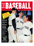 New York Yankees Mickey Mantle, Don Larson &amp; Yogi Berra - 1957 Street and Smith Posters