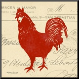 Tuscan Rooster II Mounted Print by Sharyn Sowell
