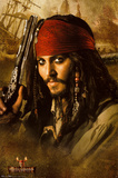 Pirates of the Caribbean 2 Movie Johnny Depp Holding Gun Print