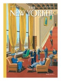 Lifestyles of the Rich and Felonious - The New Yorker Cover, January 12, 2004 Regular Giclee Print by Bruce McCall