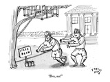 """Bro, no!"" - New Yorker Cartoon Premium Giclee Print by Farley Katz"