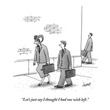 """Let's just say I thought I had one wish left."" - New Yorker Cartoon Premium Giclee Print by Tom Cheney"
