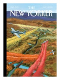 Fall Ritual - The New Yorker Cover, October 9, 2006 Regular Giclee Print by Bruce McCall